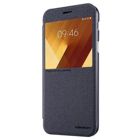 Acc Wallet Samsung Galaxy A7 2017 Flip Cover Leather Dompet Dux samsung galaxy a7 2017 nillkin sparkle view flip black