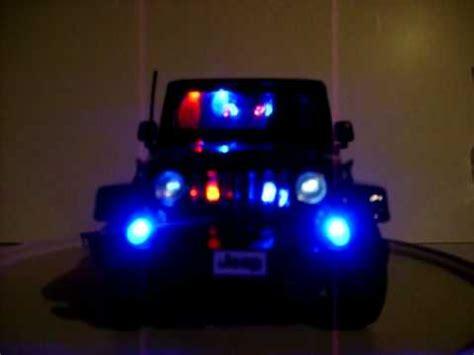 Emergency Lights For Jeep Wrangler 1 18 Jeep Wrangler Custom Led S