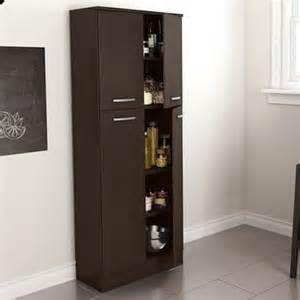 Modern kitchen pantry cabinet brown storage food cupboard closet
