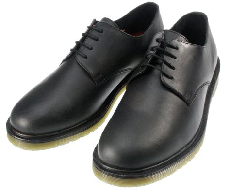 mens black leather black airsole oxford lace up shoes