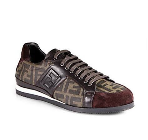 fendi sneakers mens men s fendi ff logo sneakers