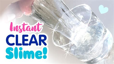 tutorial slime clear diy instant clear slime no waiting for bubbles no