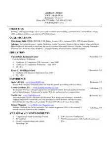 middle school resume template education resume for high school students