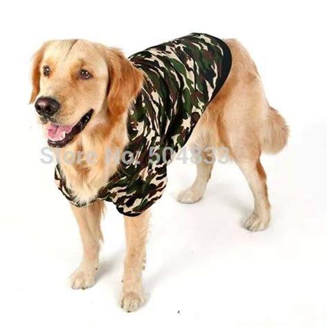 golden retriever fleece fabric camouflage large hoodie jacket clothes big dogs warm coat fleece inside