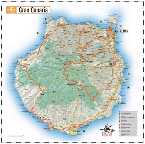printable map gran canaria large gran canaria maps for free download and print high