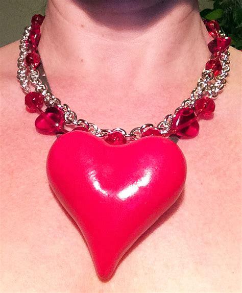 valentines necklace my big a polymer clay valentine s necklace