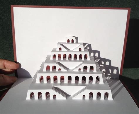 Tower Of Babel Pop Up Template From Http Www Popupology Co Uk Galleries 2 Items 82 Diy Www Popupology Co Uk Templates