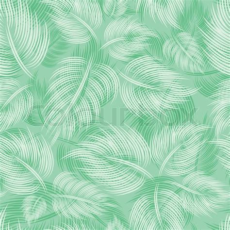 vector pattern background green seamless spring pattern with green light leaf leaves on