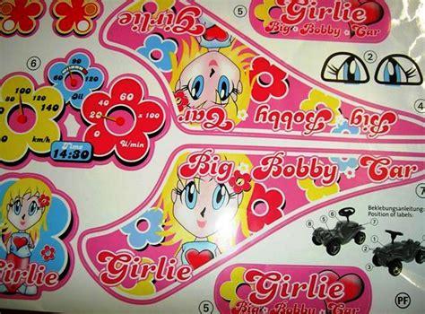 Bobby Car Aufkleber Set by Big Bobby Car Classic Stickers Girlie Aufkleber F 252 R Das