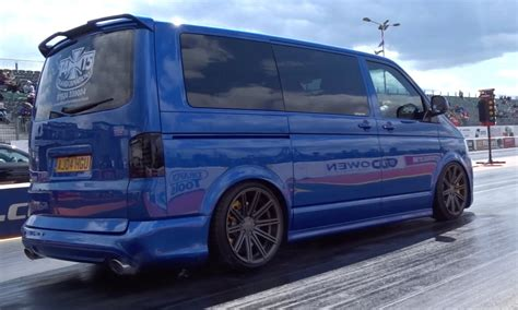 Audi T5 by 400 Bhp Audi Rs4 Powered Vw T5 Transporter 14 5 99mph