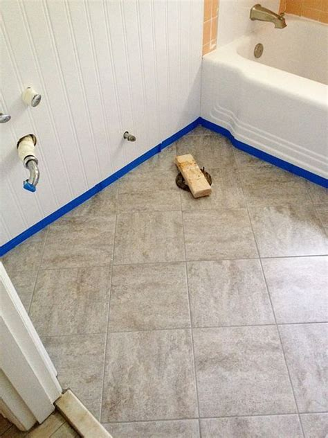 how to lay sticky tile in bathroom libertydagor blog
