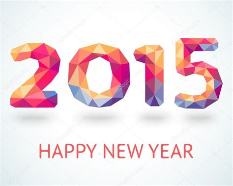 new year 2015 illustration happy new year 2015 colorful greeting card stock vector