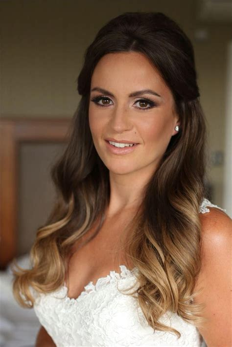 ombre half up half down hairstyles half up half down wedding hairstyles inspiration and