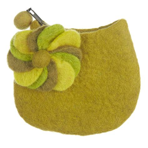 Handmade Felt - handmade felt kaleidoscope purse with brooch by felt so