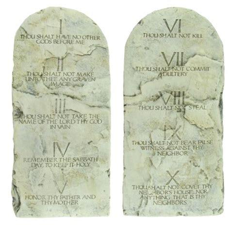 The Ten Commandments Gift Set 10 ten commandments tablets cast tablet set christian gift home wall decor walmart