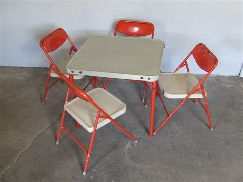 Childrens Folding Table And Chairs with Vintage Samsonite Childrens Folding Table And Four Chairs