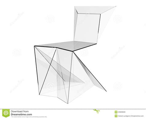 Origami Concept - modern chair royalty free stock images image 29909699