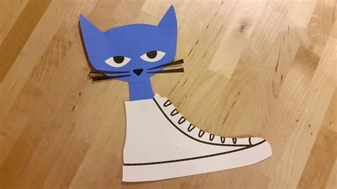 cat craft for pete the cat craft activity printables crafty pammy