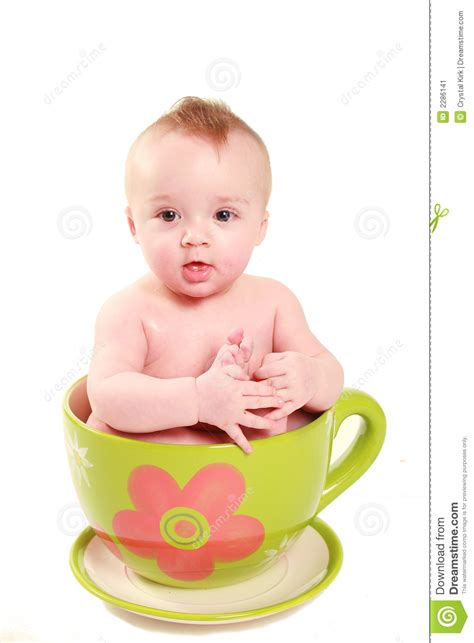 Gig Baby Cup baby in a big cup stock image image of sweet child