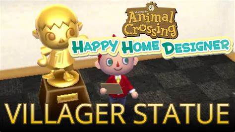 happy home designer villager furniture video unlocking the villager statue with villager amiibo