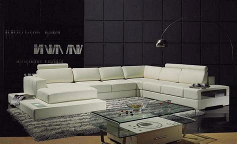Contemporary Leather Sectional Sofa Sectionals Contemporary Reclining Sectional Sofa