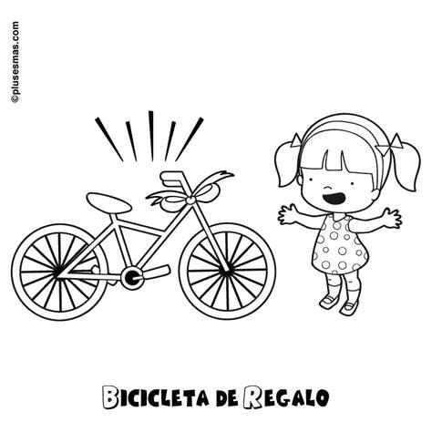 imagenes de bicicletas faciles para dibujar bicicleta de regalo para colorear
