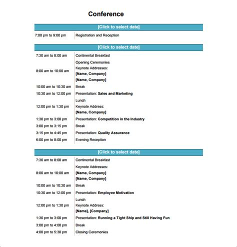 6 Conference Schedule Template Doc Pdf Free Premium Templates Conference Program Design Template