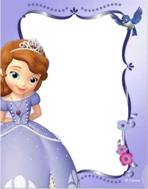 sofia the birthday card template sofia invite sofia the photo 38768818 fanpop