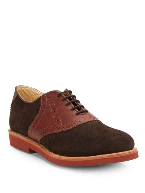 saddle oxford shoes walk suede leather saddle oxford shoes in brown for