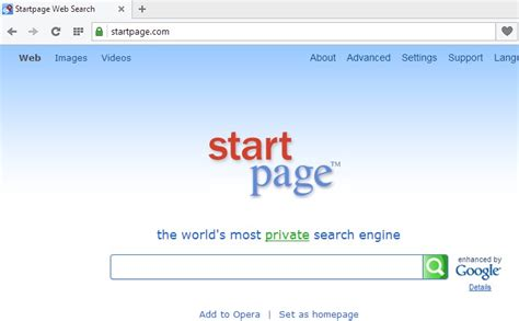 web search remove startpage web search by ixquick system tips for