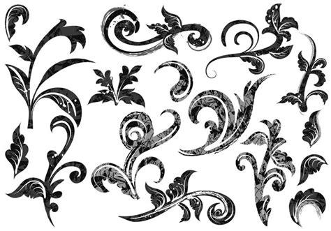 baroque pattern brush grunge baroque swirl vectors download free vector art