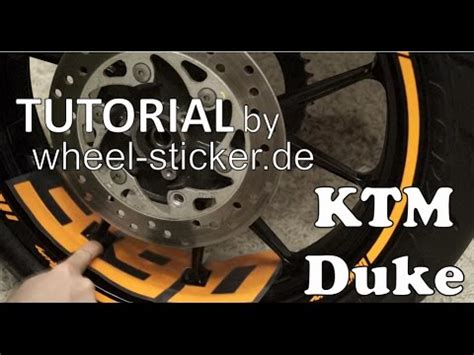 Aufkleber Motorrad Anbringen by Aufkleber Anbringen Ktm Duke 200 390 690 125