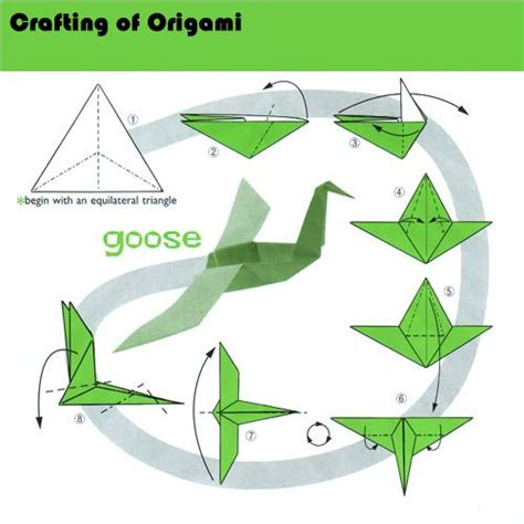 Origami Goose Diagrams - 20 best images about how to make origami on