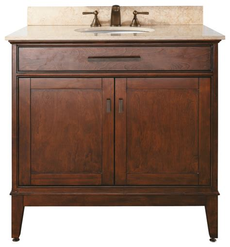 madison 36 vanity combo tobacco black granite top