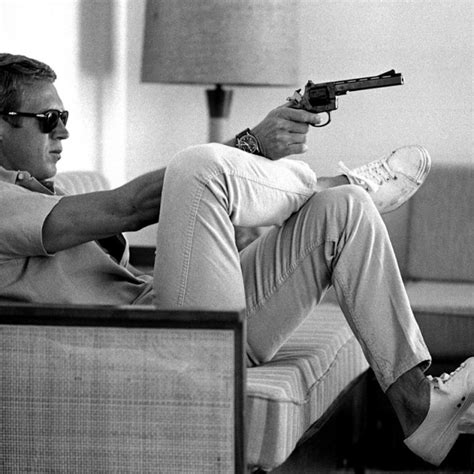 steve mcqueen sofa and gun poster steve mcqueen sofa gun the king of cool canvas the uk