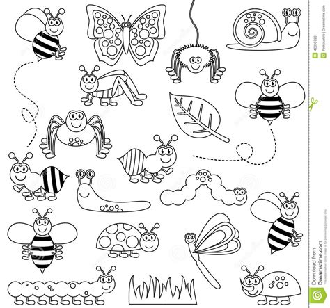 Between The Pages Black bugs clipart black and white