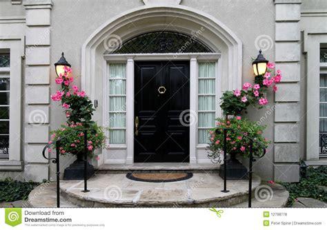 Elegant Front Door With Flowers Stock Photo Image 12798778 Flowers For Front Door