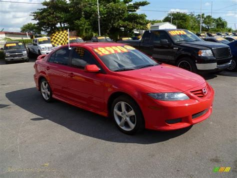 mazda sports cars for sale 2004 mazda mazda6 i sport sedan in volcanic red n94219