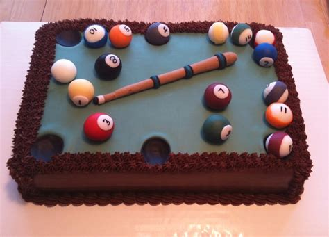 Pool Table Groom S Cake Cakecentral Com Pool Table Cake