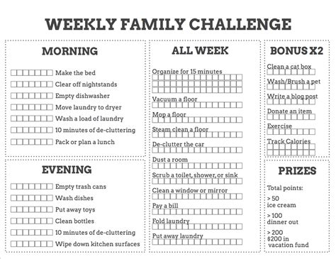 Chores List For Family Of Chores Use This Chore Chart To Actually Get Stuff