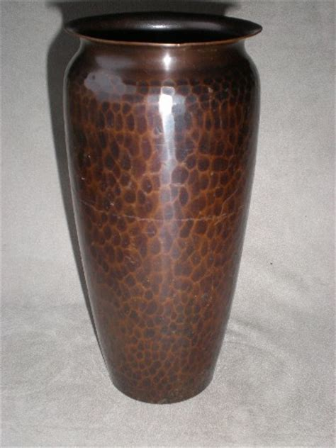 Hammered Copper Vase by Magnificent Large Quot Roycroft Quot Hammered Copper Vase