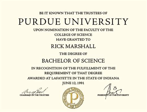 Purdue Business Card Templat by Diplomas Certificates Hpr Graphics