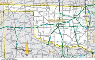 road map of and oklahoma oklahoma travel planning