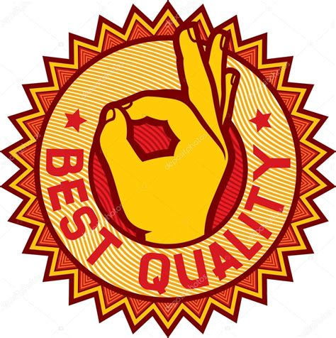 Best Quality by Best Quality Symbol Showing Stock Vector