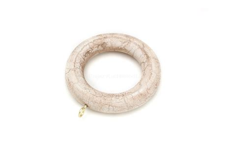 wooden curtain rod rings ivory crackle decorative wood curtain rings rg 084 ic