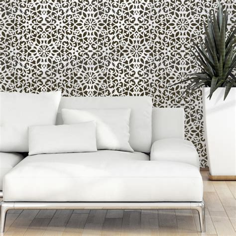 moroccan pattern roller wall stencil moroccan allover pattern ceuta for accent