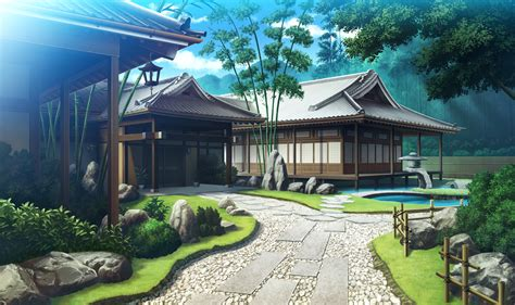 maison traditionnelle anime landscape