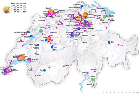 major cities in switzerland map switzerland map major cities