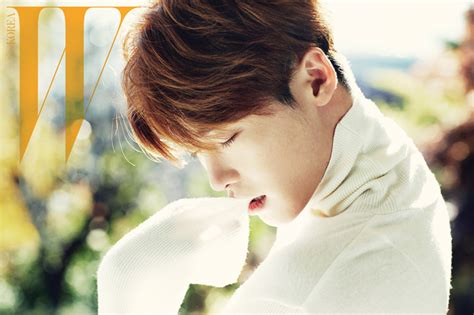 How High Should My Bed Be Lee Jong Suk Lays In Bed For Quot W Korea Quot Soompi