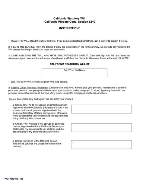 california last will and testament template simple living will template mayamokacomm